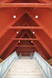 Telhado e escadaria foto de stock