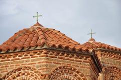Telhado e fachada da igreja Foto de Stock