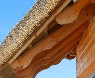Telhado e feixes do Thatch Fotos de Stock Royalty Free