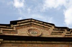 Telhado em uma construção histórica foto de stock royalty free