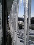 Telhado gelado Fotos de Stock Royalty Free