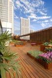 Telhado-jardim do hotel Fotografia de Stock Royalty Free