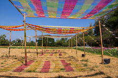 Telhado multicolorido Fotos de Stock Royalty Free