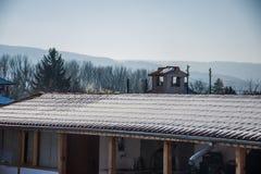 Telhado nevado Fotografia de Stock