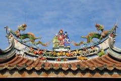 Telhado oriental do templo Imagens de Stock