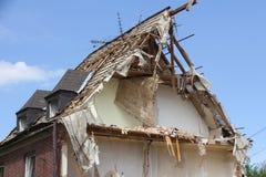 telhado Semi-desmoronado Foto de Stock Royalty Free