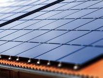 Telhado solar Imagem de Stock Royalty Free