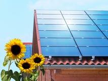 Telhado solar Fotografia de Stock Royalty Free