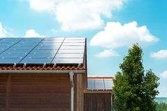 Telhado solar Fotografia de Stock