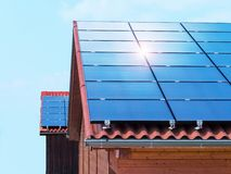 Telhado solar Fotos de Stock