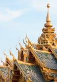 Telhado tailandês do templo Imagens de Stock