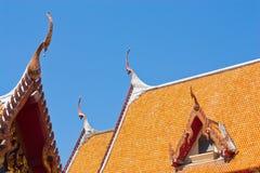 Telhado tailandês do templo Fotos de Stock Royalty Free