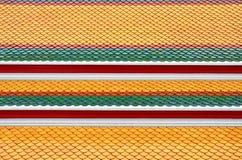 Telhado tailandês do teste padrão Fotografia de Stock Royalty Free