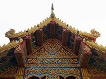 Telhado tailandês exótico do templo imagem de stock