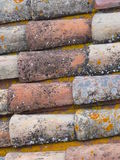 Telhado telhado tradicional em Provence França Foto de Stock Royalty Free