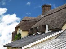 Telhado thatched da arquitetura Fotos de Stock