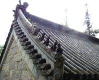 Telhado tradicional chinês fotografia de stock