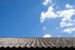 Telhado velho com céu brilhante Fotos de Stock Royalty Free