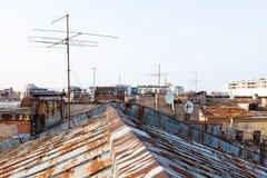 Telhado velho de St Petersburg Fotografia de Stock