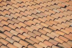 Telhado velho de Tarracotta Fotos de Stock