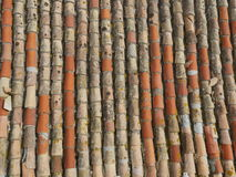 Telhado velho do tijolo Imagem de Stock