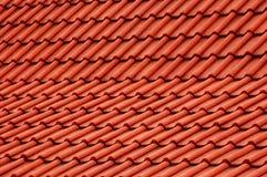 Telhado vermelho imagem de stock