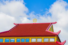 Telhado vermelho e amarelo Fotos de Stock Royalty Free