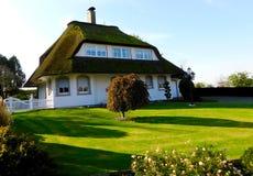 Telhado vivo verde bonito na casa imagem de stock royalty free