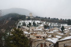 Telhados cobertos de neve em Itália Imagens de Stock Royalty Free