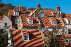 Telhados da aldeia piscatória Fotografia de Stock Royalty Free