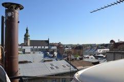 Telhados da cidade Fotos de Stock Royalty Free