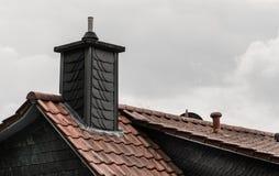 Telhados da cidade Chamin? no telhado residential foto de stock royalty free