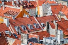 Telhados da cidade de Copenhaga Fotos de Stock