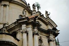 Telhados da cidade de Lviv, Ucrânia Foto de Stock
