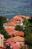 Telhados da cidade de Signagi Fotografia de Stock