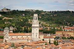 Telhados da cidade de Verona imagem de stock