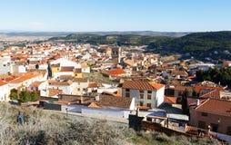 Telhados da cidade espanhola chinchilla Fotos de Stock
