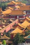 Telhados da Cidade Proibida no Pequim Fotos de Stock Royalty Free