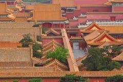 Telhados da Cidade Proibida no Pequim Foto de Stock