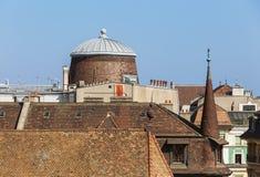 Telhados da cidade velha do ` s de Genebra Fotos de Stock Royalty Free