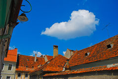Telhados da Transilvânia, Romania, Europa Fotos de Stock Royalty Free