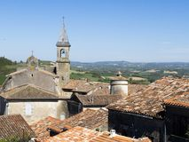 Telhados da vila de Lautrec france foto de stock