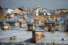 Telhados das casas Imagens de Stock