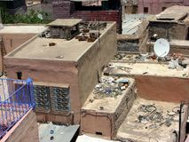 Telhados das casas em C4marraquexe em Marrocos Fotografia de Stock