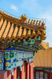 Telhados das construções a Cidade Proibida no Pequim foto de stock royalty free