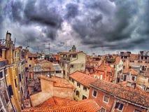 Telhados das construções em Veneza Imagem de Stock