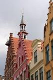 Telhados de Bruges Fotografia de Stock Royalty Free