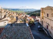 Telhados de Cammarata, Sicília, Itália fotografia de stock royalty free