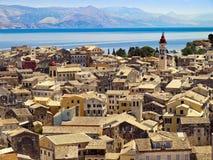 Telhados de Corfu Fotos de Stock Royalty Free