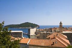 Telhados de Dubrovnik Fotografia de Stock Royalty Free